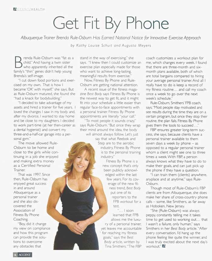Brenda Rule-Osburn Personal Trainer